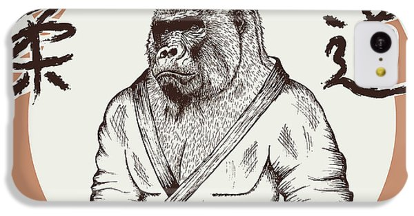 T Shirts iPhone 5c Case - Judoka Gorilla Dressed In Kimono. Hand by Dimonika