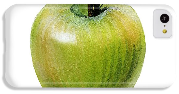 IPhone 5c Case featuring the painting Juicy Green Apple by Irina Sztukowski