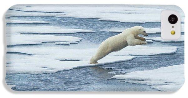 Polar Bear iPhone 5c Case - Jump! by Vadim Balakin