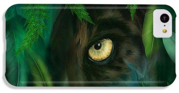 Jungle Eyes - Panther IPhone 5c Case by Carol Cavalaris