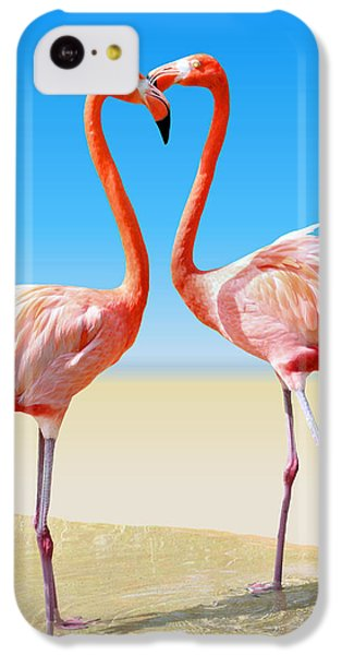 Flamingo iPhone 5c Case - Just We Two by Kristin Elmquist