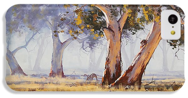 Landscape iPhone 5c Case - Kangaroo Grazing by Graham Gercken