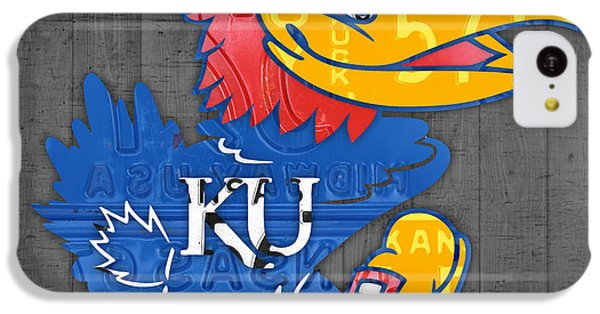 Kansas Jayhawks College Sports Team Retro Vintage Recycled License Plate Art IPhone 5c Case by Design Turnpike