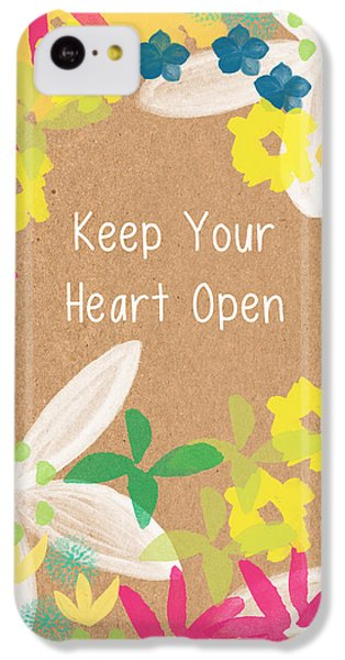 Tulip iPhone 5c Case - Keep Your Heart Open by Linda Woods