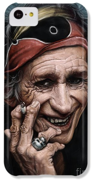 Keith Richards IPhone 5c Case by Andre Koekemoer