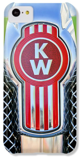 Truck iPhone 5c Case - Kenworth Truck Emblem -1196c by Jill Reger
