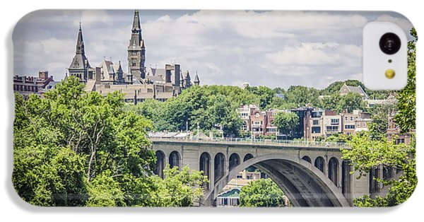 Key Bridge And Georgetown University IPhone 5c Case by Bradley Clay