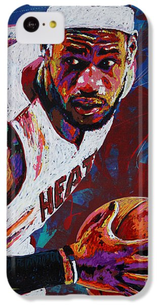 Lebron James iPhone 5c Case - King James by Maria Arango