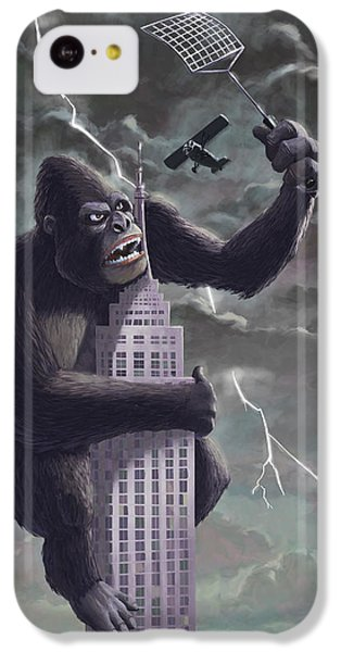 King Kong Plane Swatter IPhone 5c Case by Martin Davey