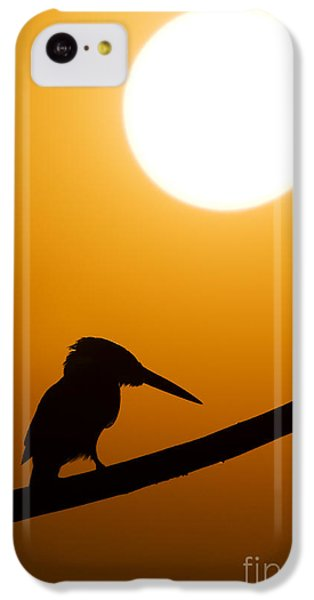 Kingfisher Sunset Silhouette IPhone 5c Case by Tim Gainey