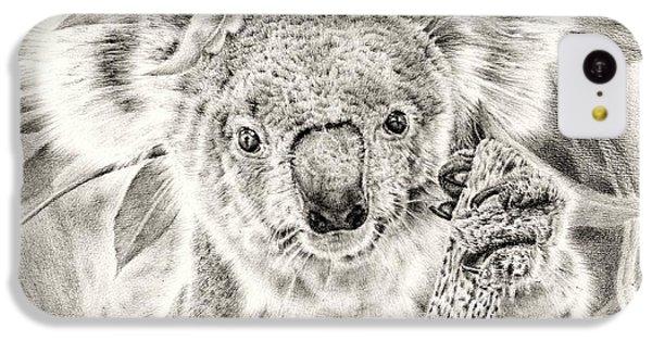 Koala Garage Girl IPhone 5c Case by Remrov