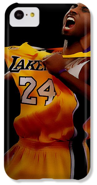 Kobe Bryant Sweet Victory IPhone 5c Case by Brian Reaves