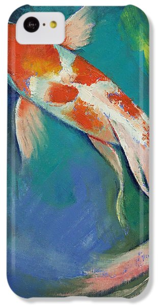Kohaku Butterfly Koi IPhone 5c Case by Michael Creese