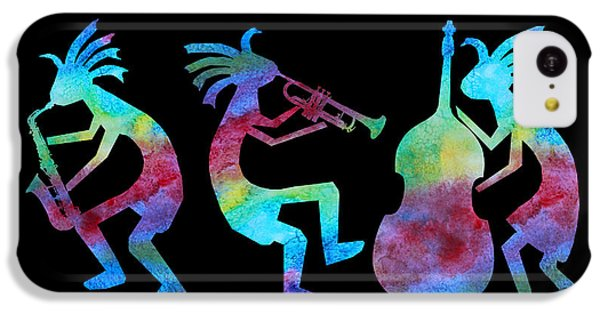Kokopelli Jazz Trio IPhone 5c Case by Jenny Armitage