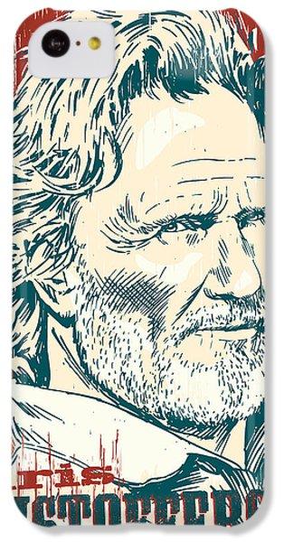 Kris Kristofferson Pop Art IPhone 5c Case by Jim Zahniser