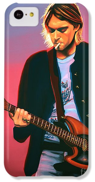 Kurt Cobain In Nirvana Painting IPhone 5c Case by Paul Meijering