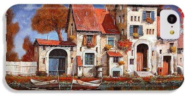 Boat iPhone 5c Case - La Cascina Sul Lago by Guido Borelli
