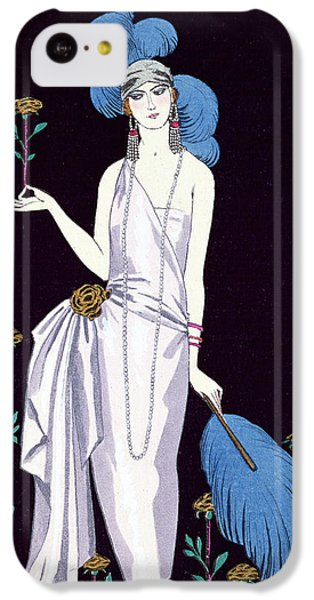 Ostrich iPhone 5c Case - 'la Roseraie' Fashion Design For An Evening Dress By The House Of Worth by Georges Barbier
