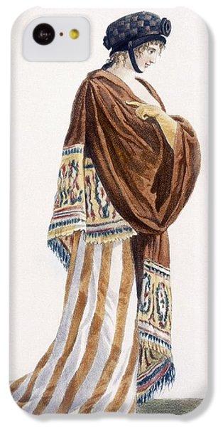 Ladies Dress With Velvet Shawl IPhone 5c Case by Pierre de La Mesangere