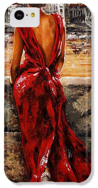 Lady In Red  34 -  I Love Budapest IPhone 5c Case by Emerico Imre Toth