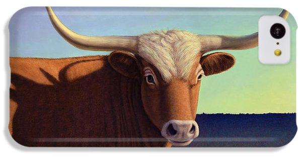 Bull iPhone 5c Case - Lady Longhorn by James W Johnson