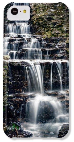 Flow iPhone 5c Case - Lake Park Waterfall by Scott Norris