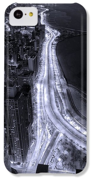Lake Shore Drive Aerial  B And  W IPhone 5c Case by Steve Gadomski