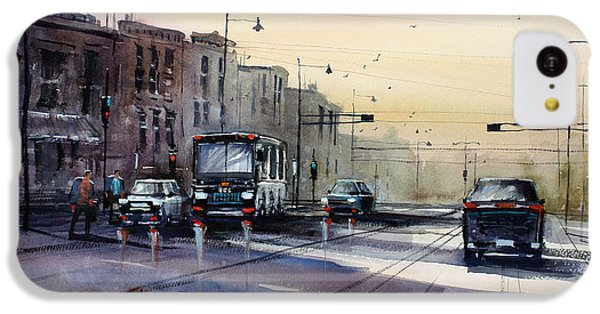 Last Light - College Ave. IPhone 5c Case by Ryan Radke