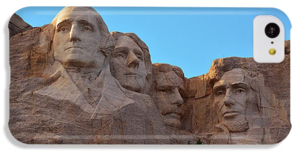 Mount Rushmore iPhone 5c Case - Late Afternoon, Mount Rushmore National by Michel Hersen