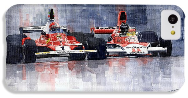 Car iPhone 5c Case - Lauda Vs Hunt Brazilian Gp 1976 by Yuriy Shevchuk
