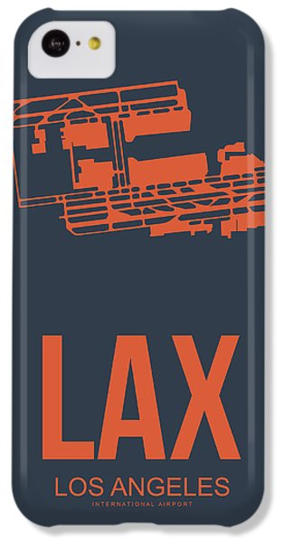 Transportation iPhone 5c Case - Lax Airport Poster 3 by Naxart Studio