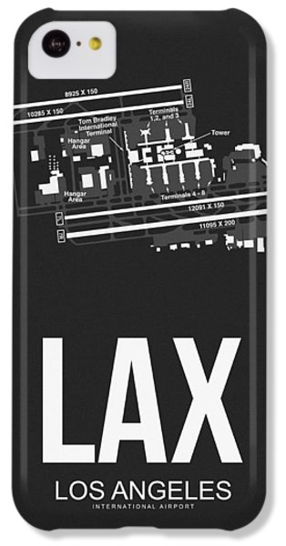 Transportation iPhone 5c Case - Lax Los Angeles Airport Poster 3 by Naxart Studio