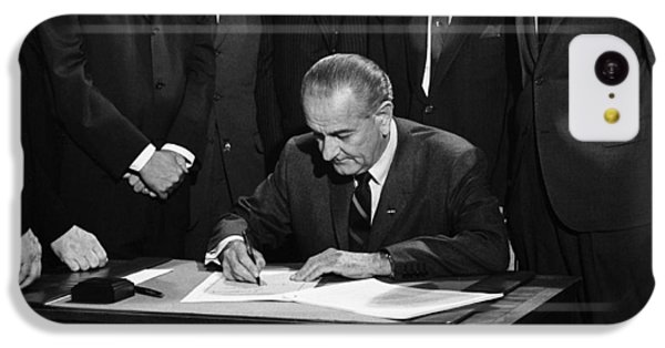 Lbj Signs Civil Rights Bill IPhone 5c Case by Underwood Archives Warren Leffler