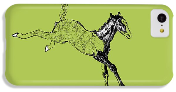 Horse iPhone 5c Case - Leaping Foal Greens by JAMART Photography