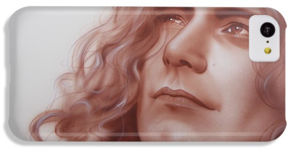 Robert Plant - ' Leaves Are Falling All Around ' IPhone 5c Case by Christian Chapman Art