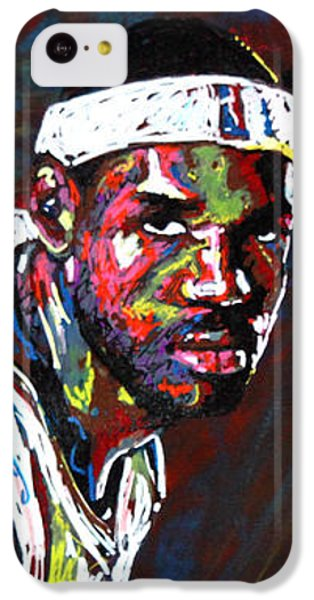 Lebron James iPhone 5c Case - Lebron James 2 by Maria Arango
