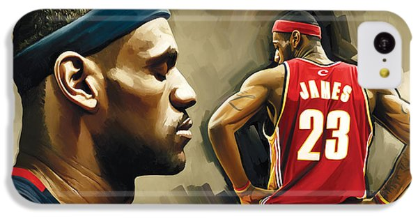 Lebron James iPhone 5c Case - Lebron James Artwork 1 by Sheraz A