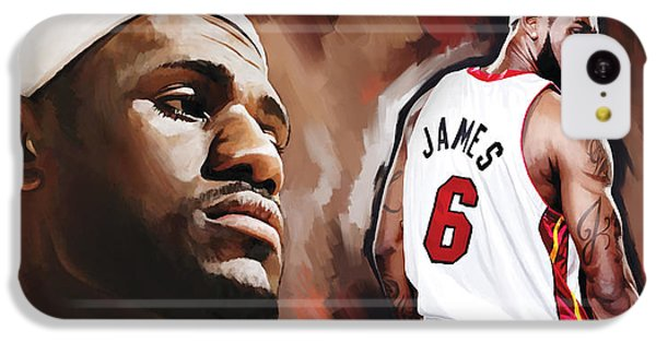 Lebron James iPhone 5c Case - Lebron James Artwork 2 by Sheraz A
