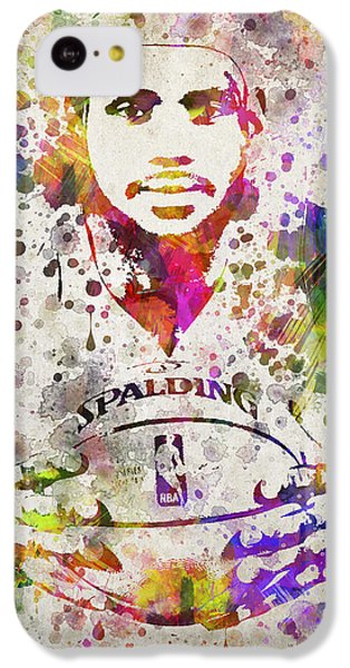 Lebron James In Color IPhone 5c Case by Aged Pixel