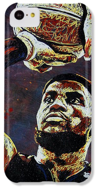 Lebron James iPhone 5c Case - Lebron James Mvp by Maria Arango