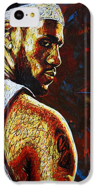 Lebron James iPhone 5c Case - Lebron  by Maria Arango