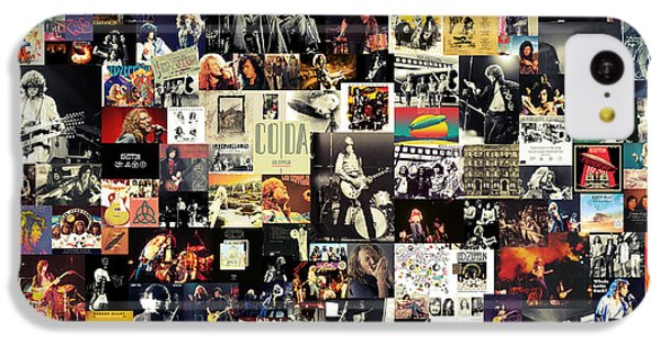 Led Zeppelin Collage IPhone 5c Case by Taylan Apukovska