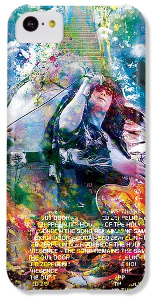Led Zeppelin Original Painting Print  IPhone 5c Case by Ryan Rock Artist