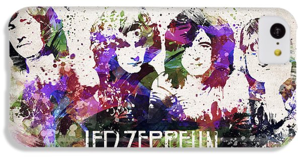 Led Zeppelin Portrait IPhone 5c Case by Aged Pixel