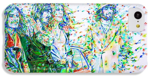 Led Zeppelin - Watercolor Portrait.2 IPhone 5c Case by Fabrizio Cassetta