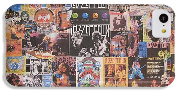 Drum iPhone 5c Case - Led Zeppelin Years Collage by Donna Wilson