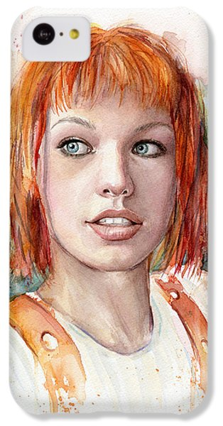 Leeloo Portrait Multipass The Fifth Element IPhone 5c Case by Olga Shvartsur