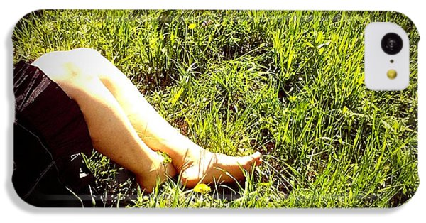Legs Of A Woman And Green Grass IPhone 5c Case by Matthias Hauser