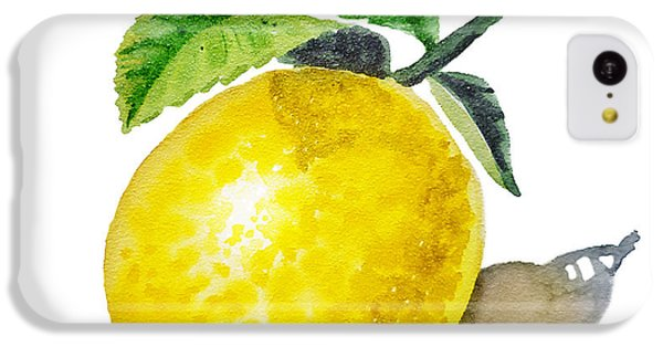 Artz Vitamins The Lemon IPhone 5c Case by Irina Sztukowski