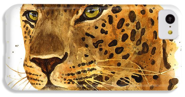 Leopard Gaze IPhone 5c Case by Alison Fennell